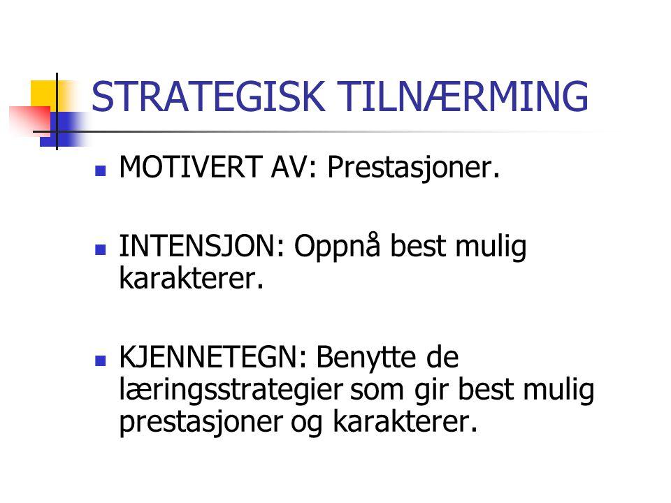 STRATEGISK TILNÆRMING