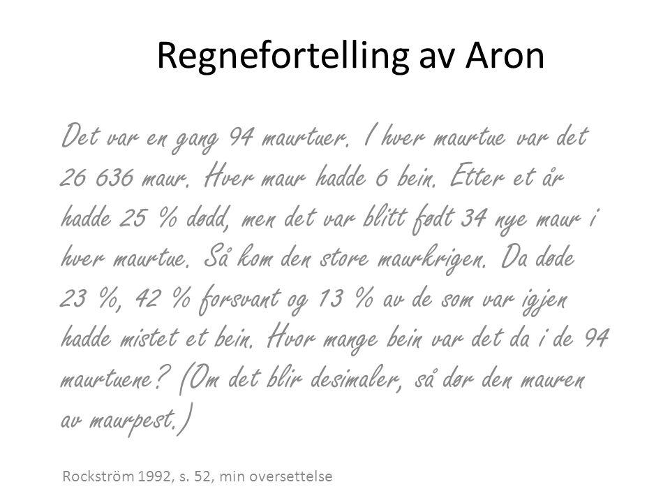 Regnefortelling av Aron