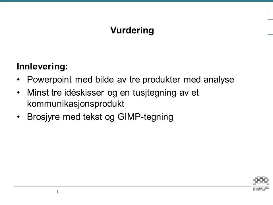 Vurdering Innlevering: