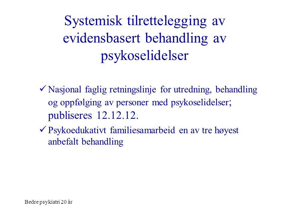 Systemisk tilrettelegging av evidensbasert behandling av psykoselidelser