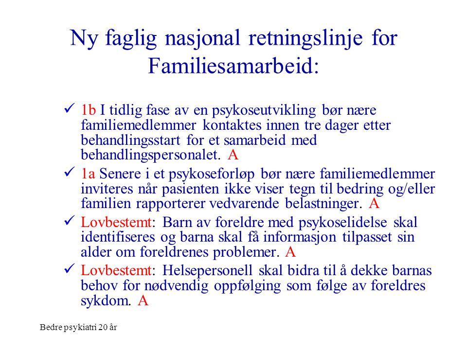 Ny faglig nasjonal retningslinje for Familiesamarbeid: