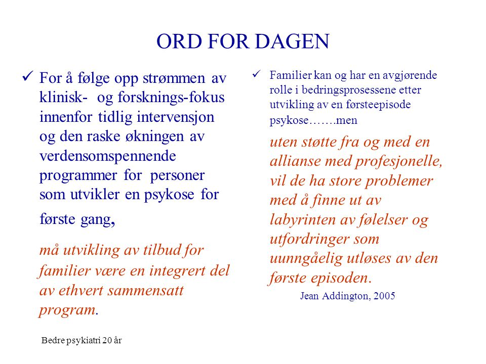 ORD FOR DAGEN