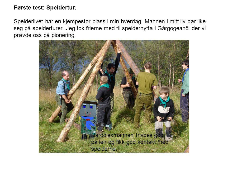 Første test: Speidertur