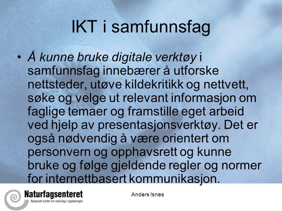 IKT i samfunnsfag