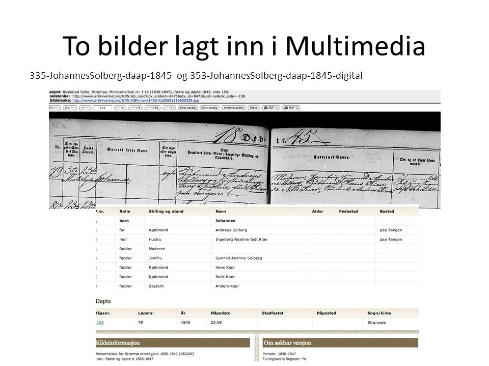 To bilder lagt inn i Multimedia