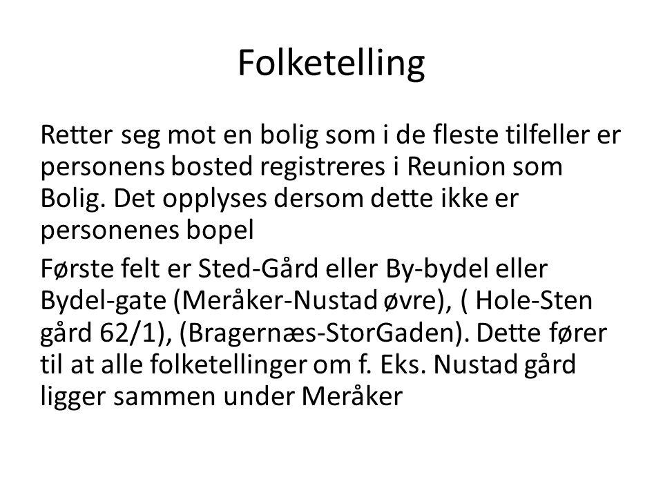 Folketelling
