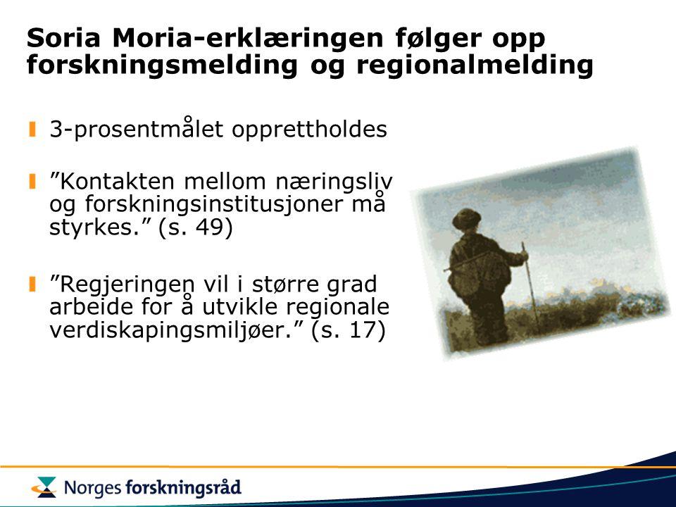 Soria Moria-erklæringen følger opp forskningsmelding og regionalmelding