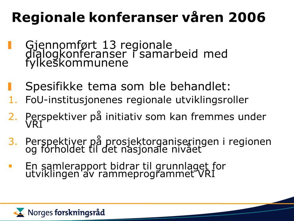 Regionale konferanser våren 2006