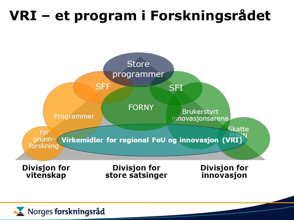 VRI – et program i Forskningsrådet