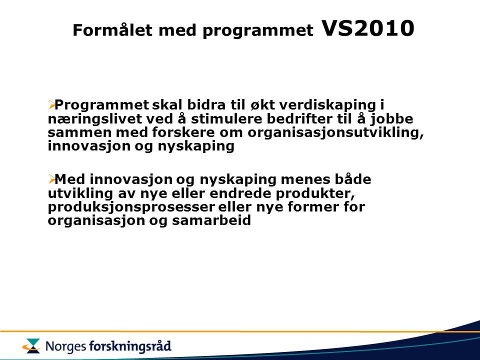 Formålet med programmet VS2010
