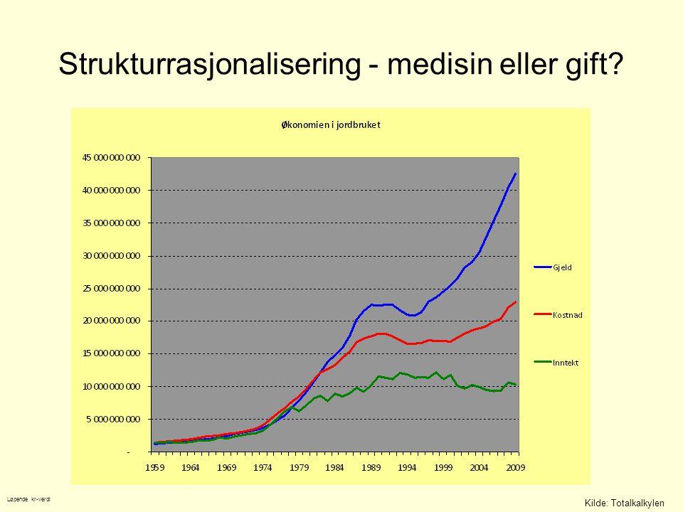 Strukturrasjonalisering - medisin eller gift