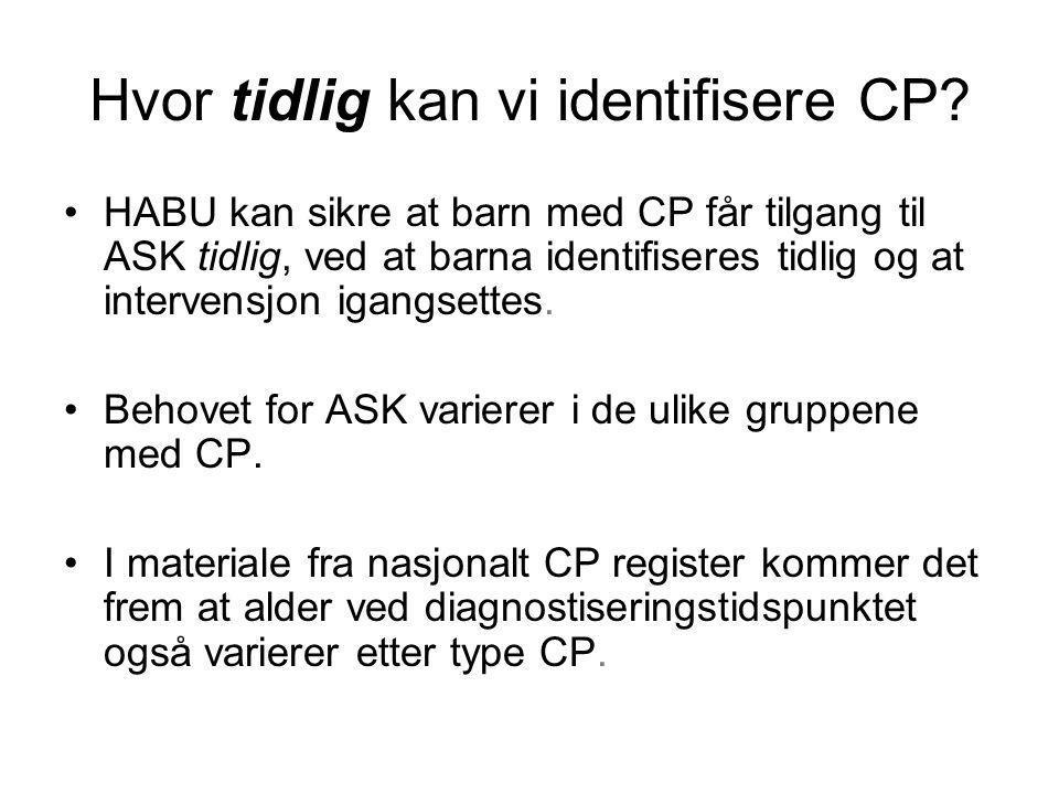Hvor tidlig kan vi identifisere CP