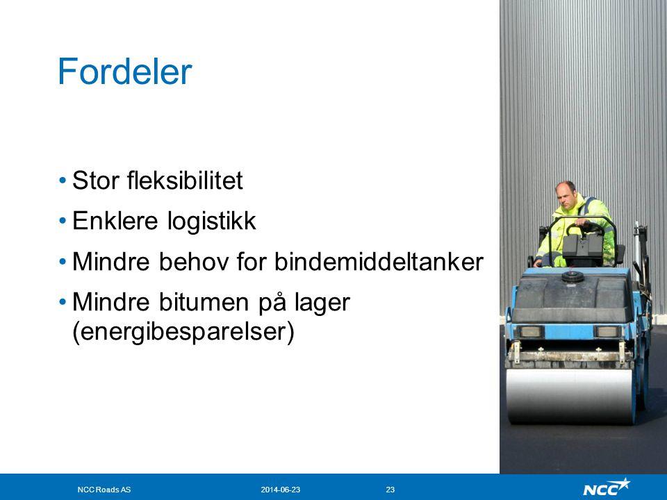 Fordeler Stor fleksibilitet Enklere logistikk