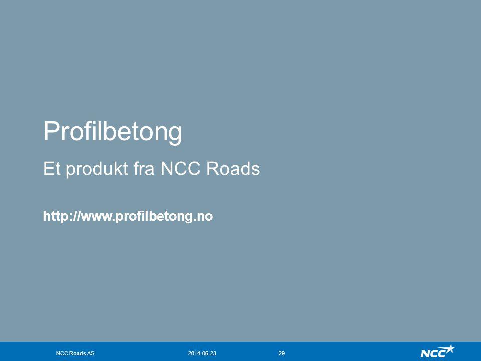 Profilbetong Et produkt fra NCC Roads http://www.profilbetong.no