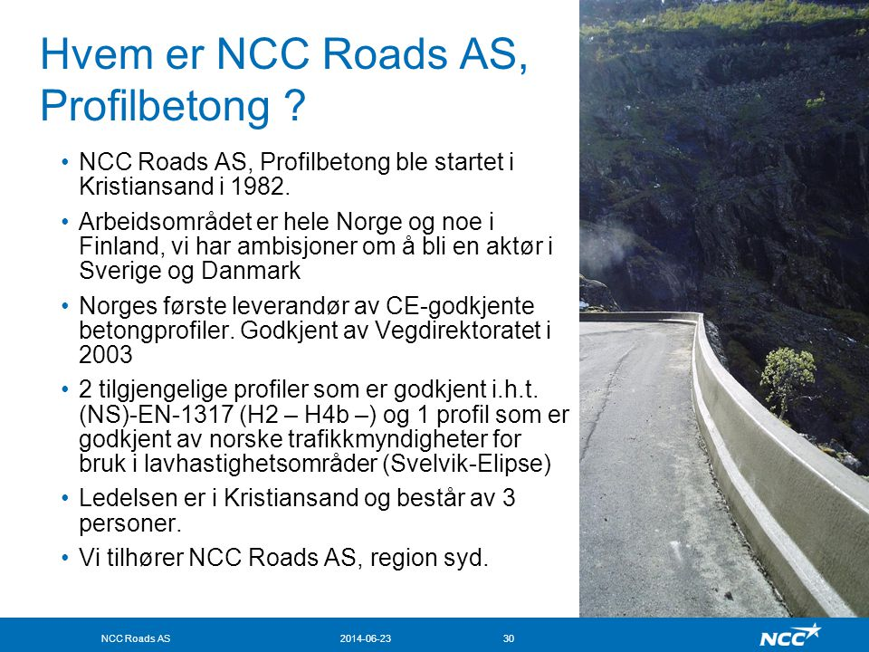 Hvem er NCC Roads AS, Profilbetong