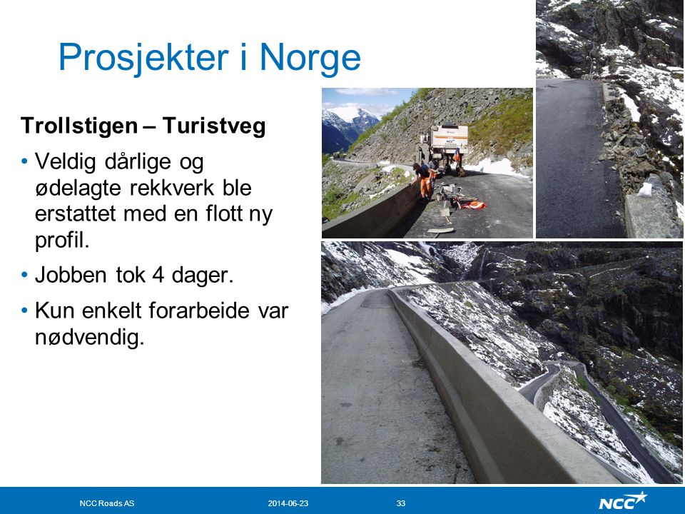 Prosjekter i Norge Trollstigen – Turistveg