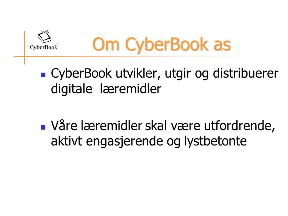 Om CyberBook as CyberBook utvikler, utgir og distribuerer digitale læremidler.