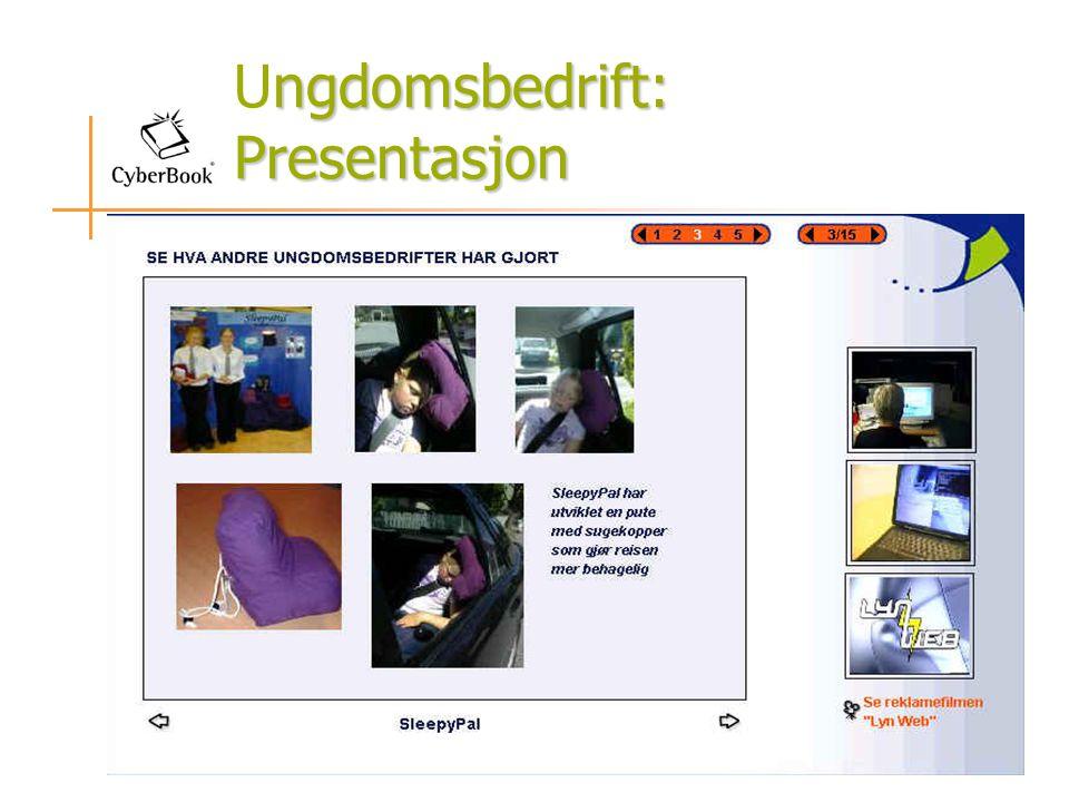 Ungdomsbedrift: Presentasjon