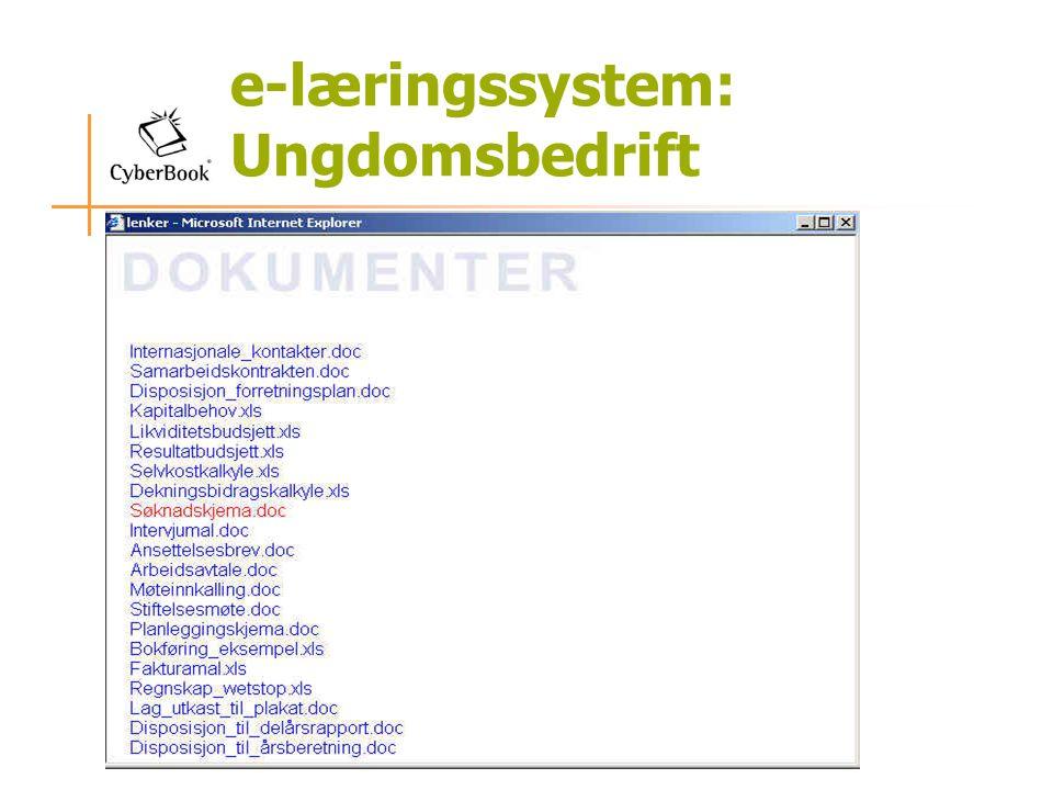 e-læringssystem: Ungdomsbedrift