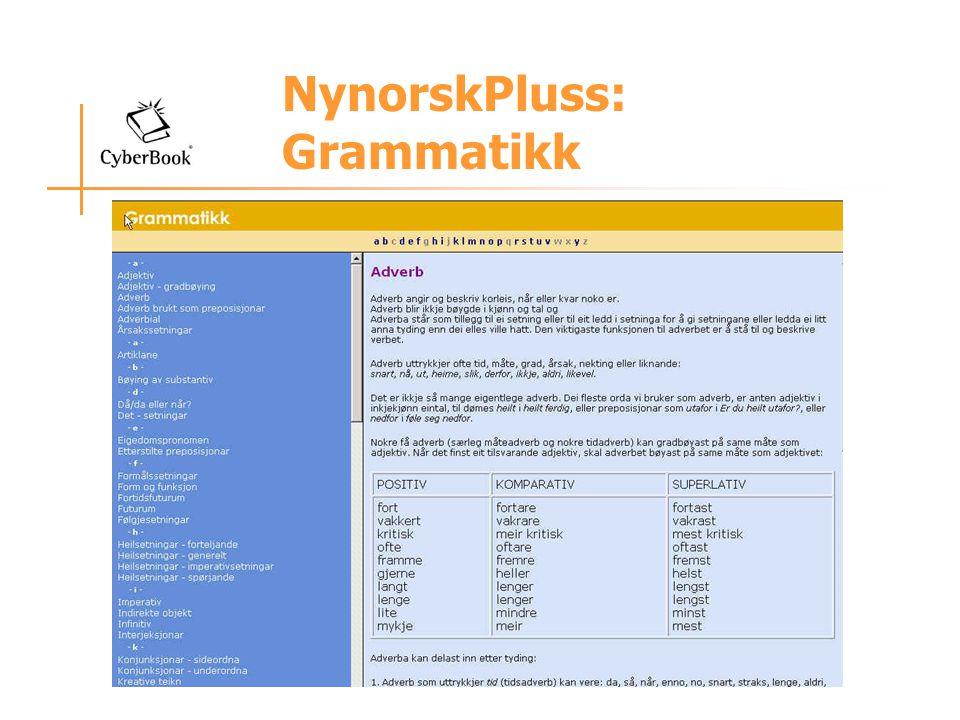 NynorskPluss: Grammatikk