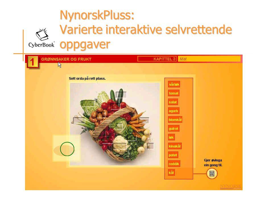 NynorskPluss: Varierte interaktive selvrettende oppgaver