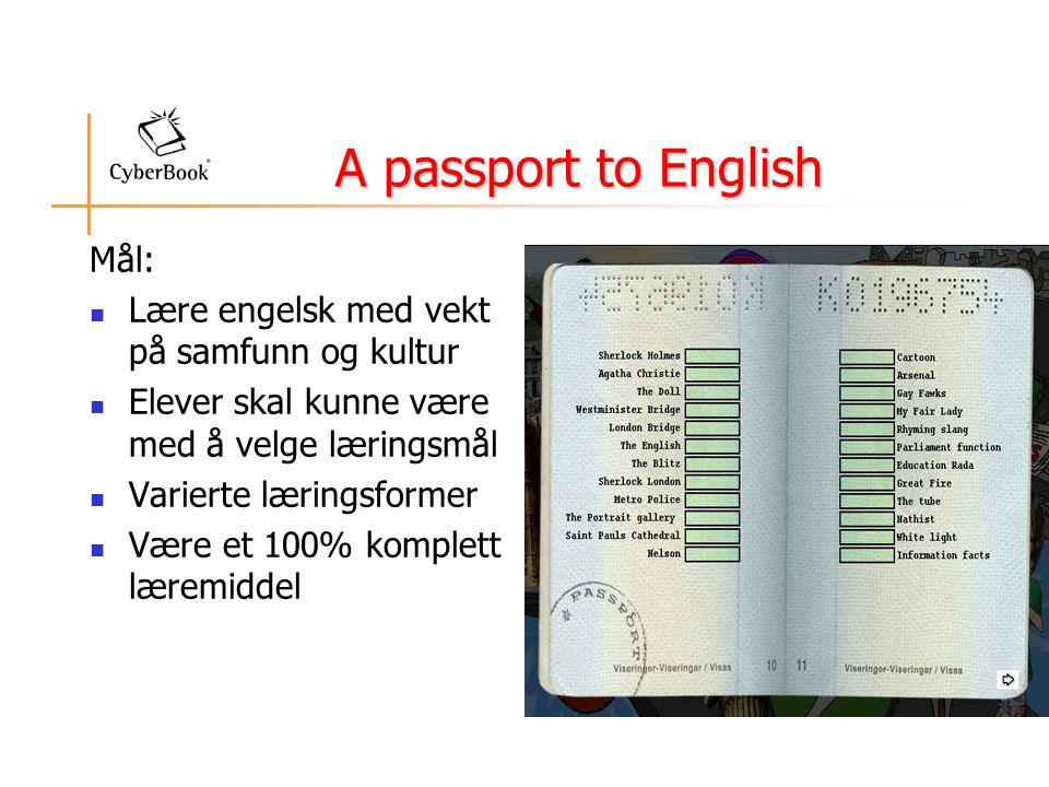 A passport to English Mål: Lære engelsk med vekt på samfunn og kultur