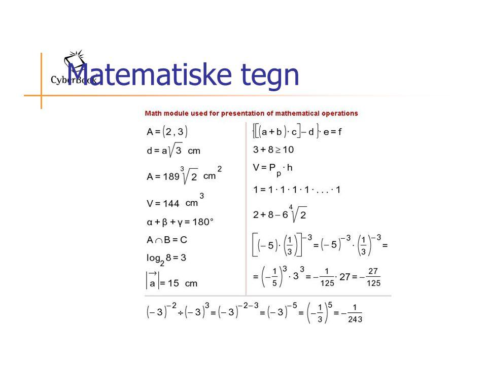 Matematiske tegn