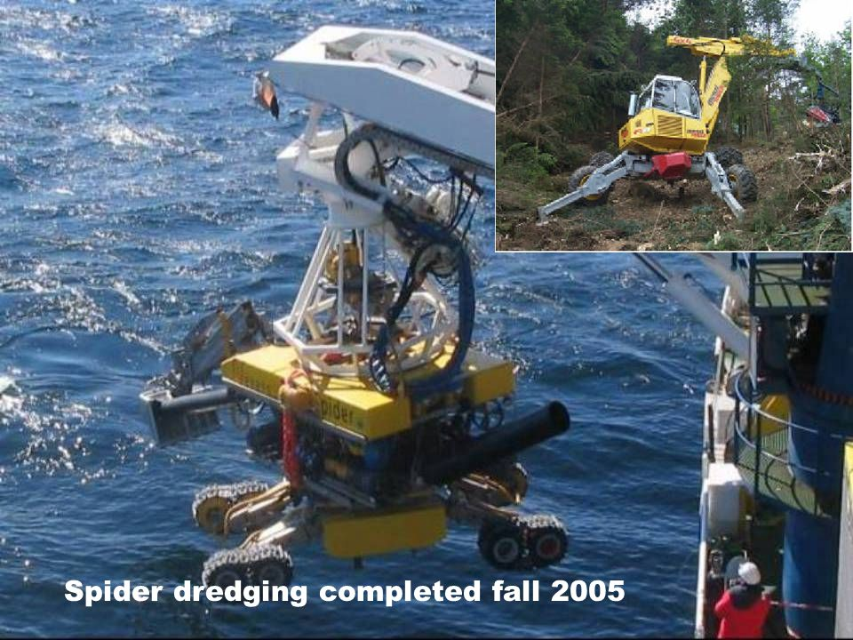 Spider dredging completed fall 2005