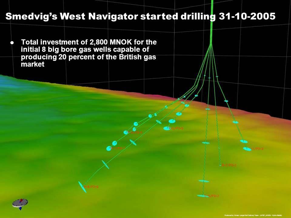 Smedvig's West Navigator started drilling 31-10-2005