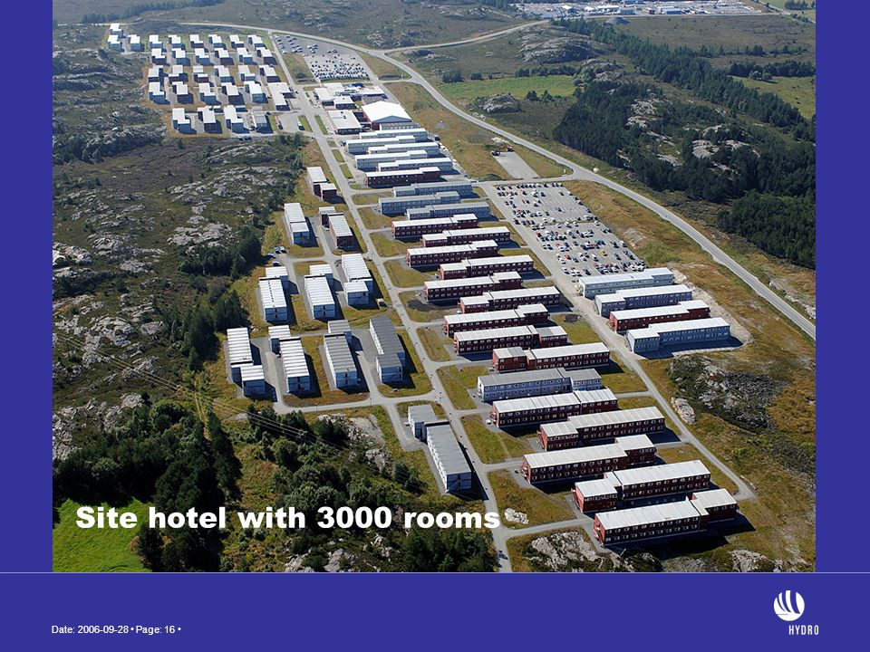 Site hotel with 3000 rooms
