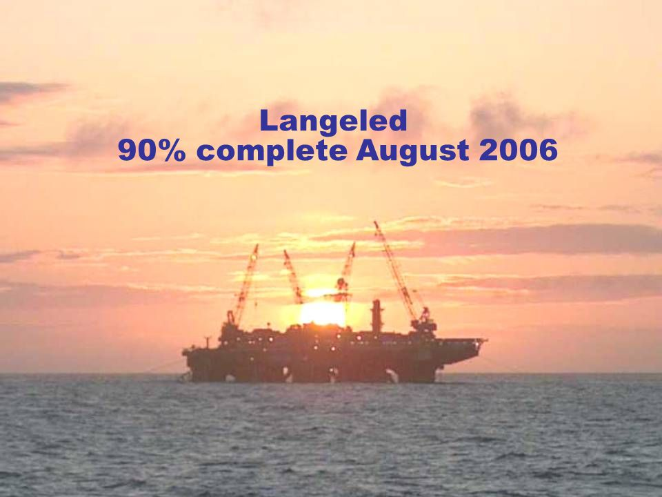 Langeled 90% complete August 2006