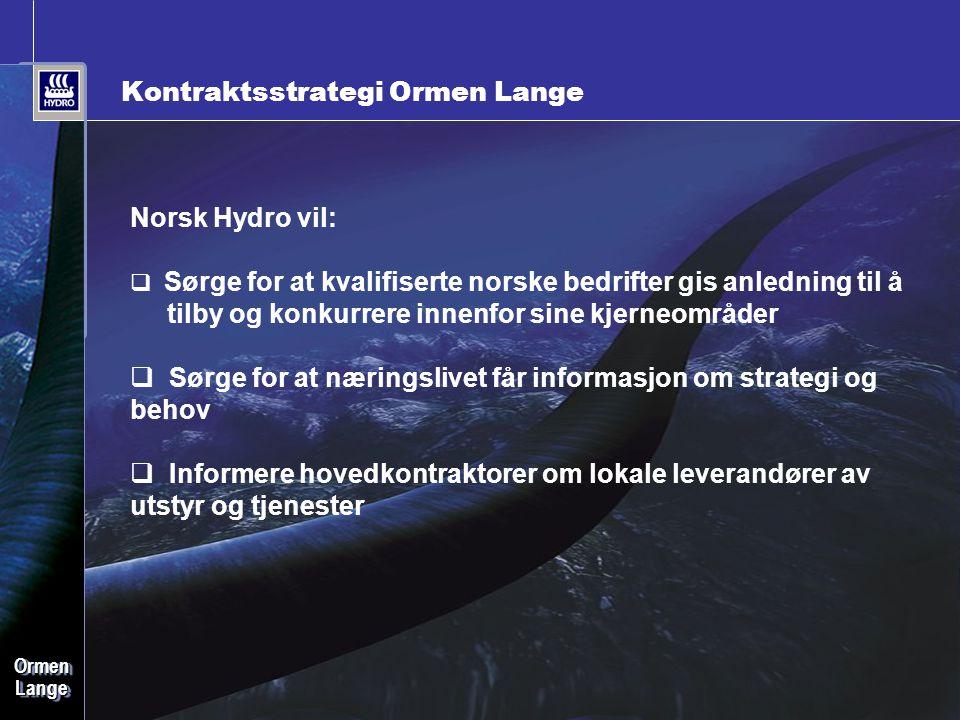 Kontraktsstrategi Ormen Lange