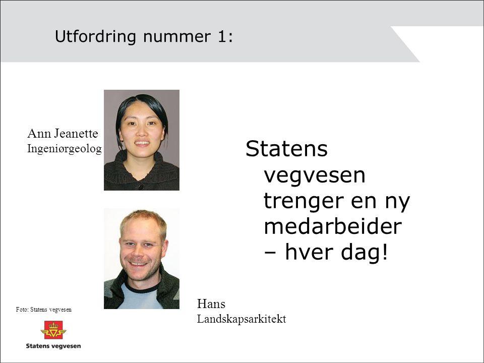 Statens vegvesen trenger en ny medarbeider – hver dag!