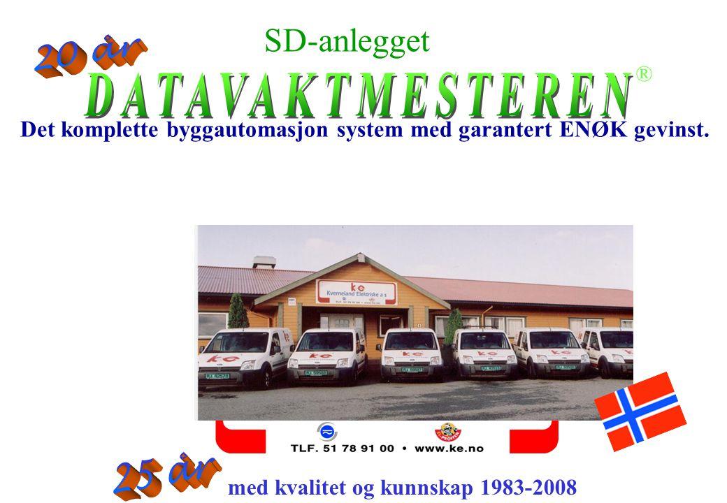 20 år 25 år SD-anlegget DATAVAKTMESTEREN