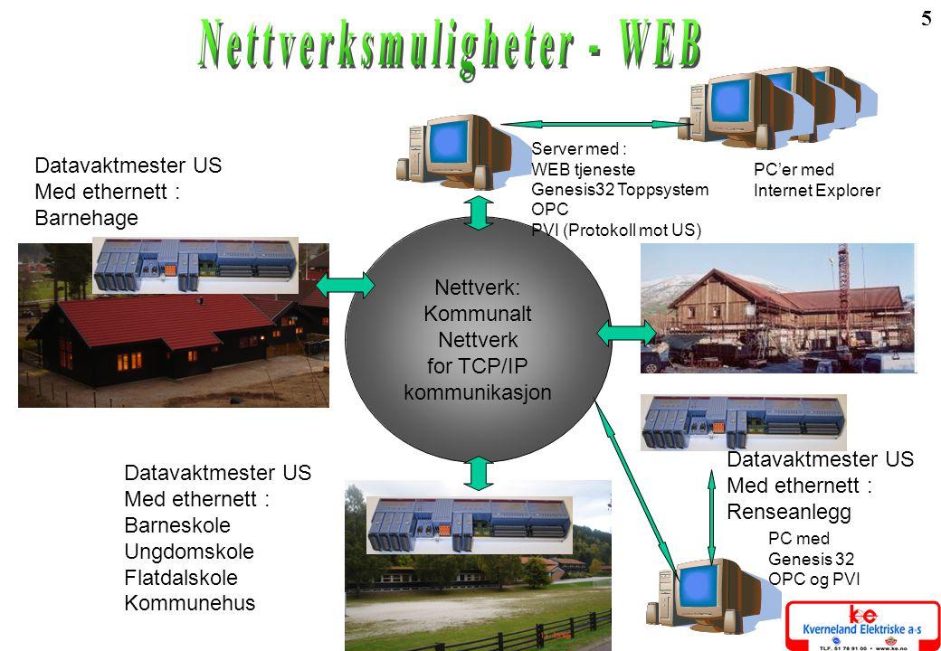 Nettverksmuligheter - WEB