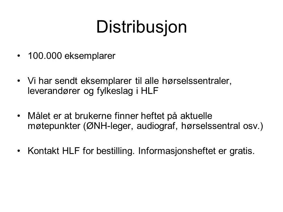 Distribusjon 100.000 eksemplarer