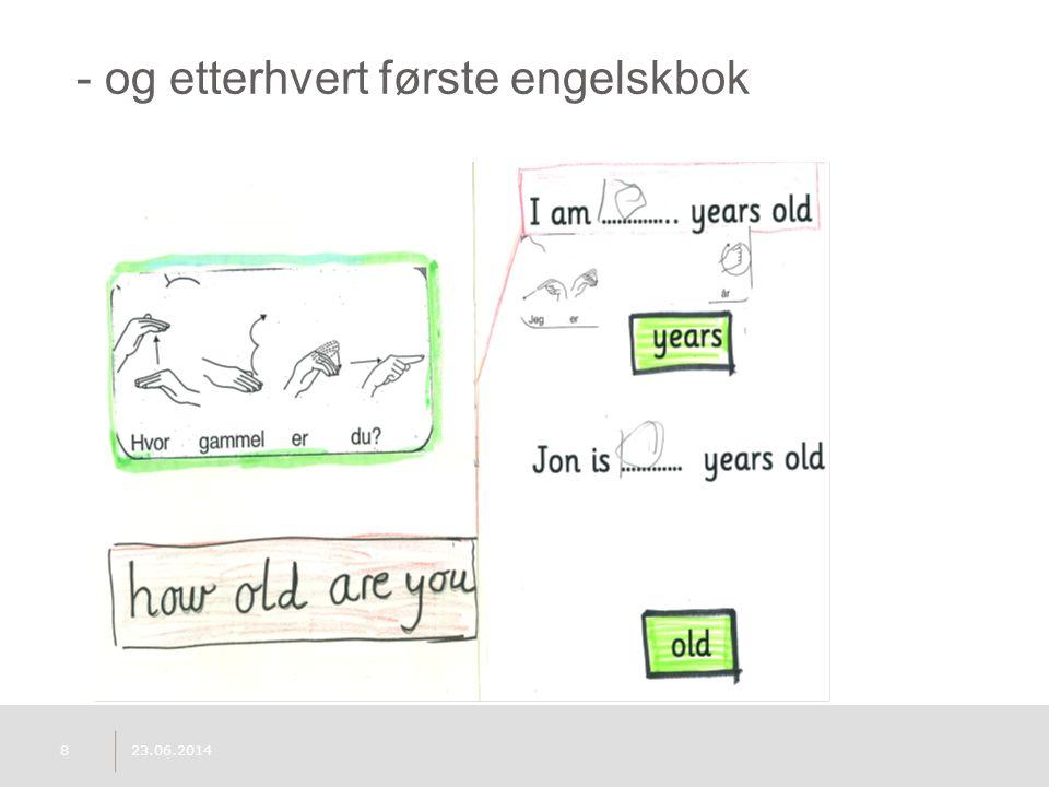 - og etterhvert første engelskbok