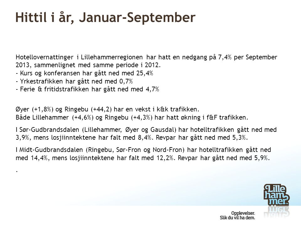 Hittil i år, Januar-September