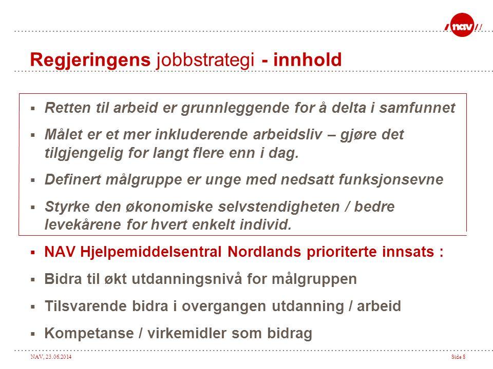 Regjeringens jobbstrategi - innhold