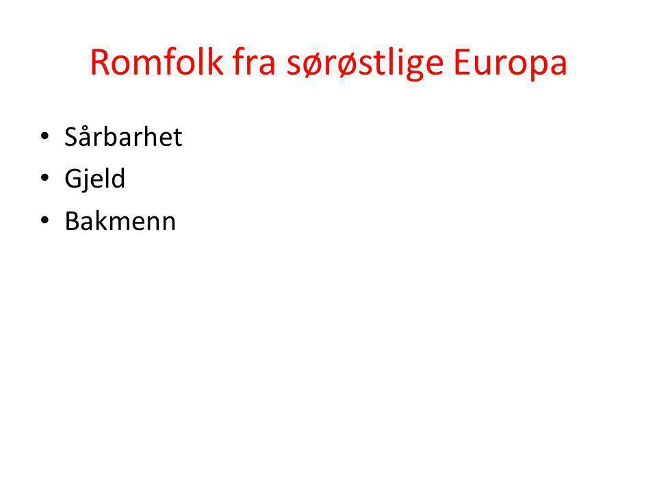 Romfolk fra sørøstlige Europa