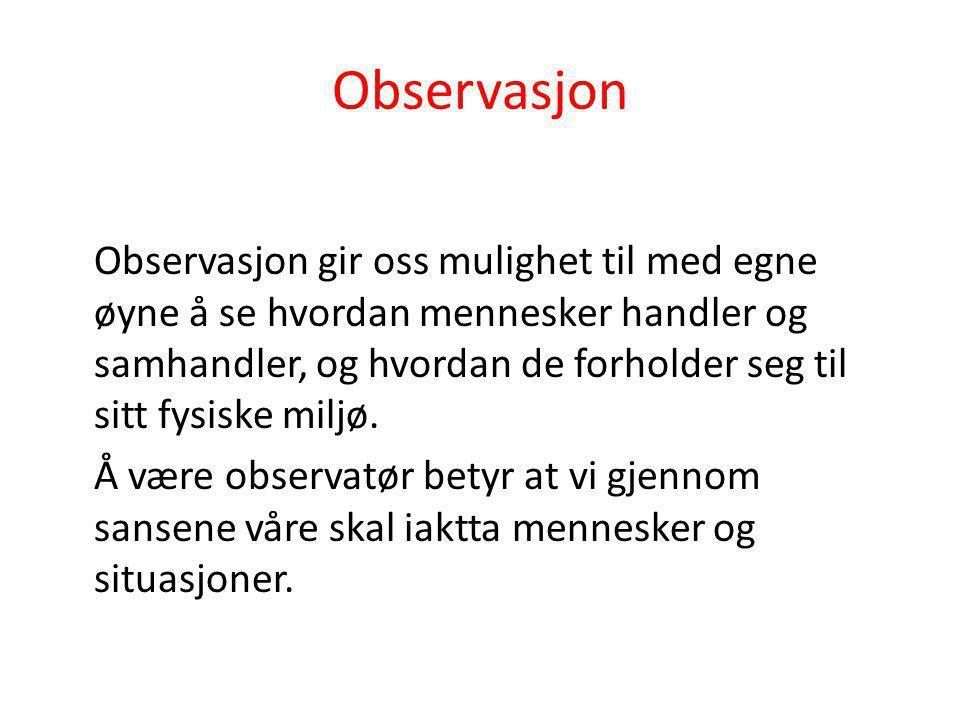Observasjon