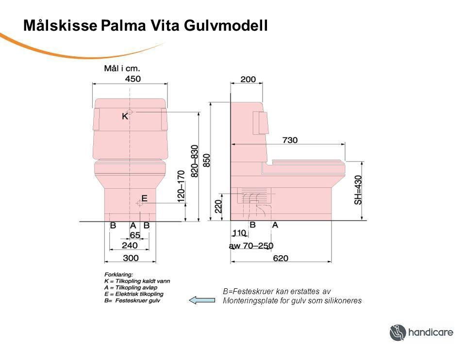 Målskisse Palma Vita Gulvmodell