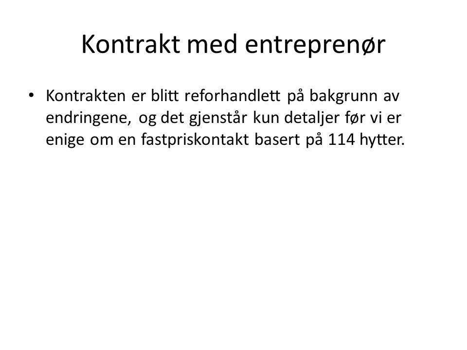 Kontrakt med entreprenør