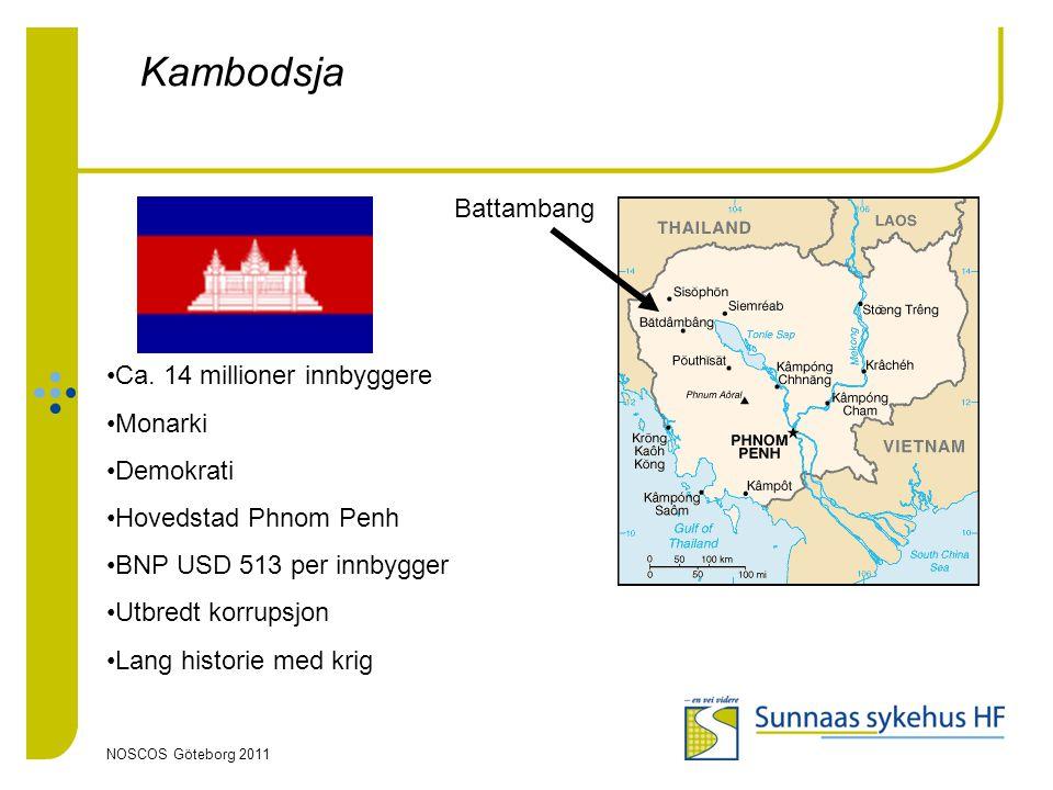 Kambodsja Battambang Ca. 14 millioner innbyggere Monarki Demokrati