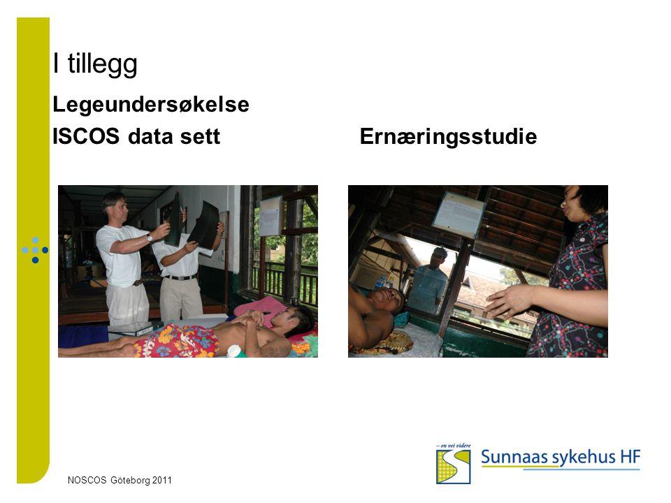 I tillegg Legeundersøkelse ISCOS data sett Ernæringsstudie