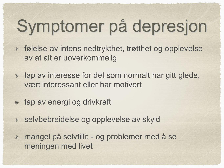 Symptomer på depresjon