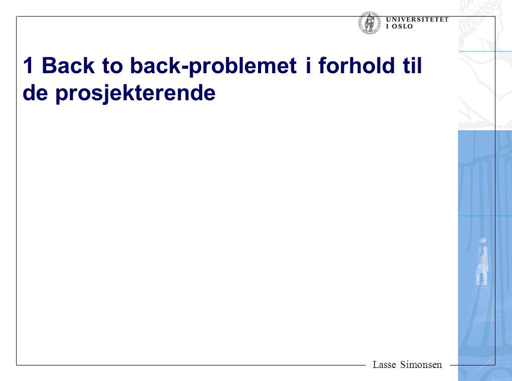 1 Back to back-problemet i forhold til de prosjekterende