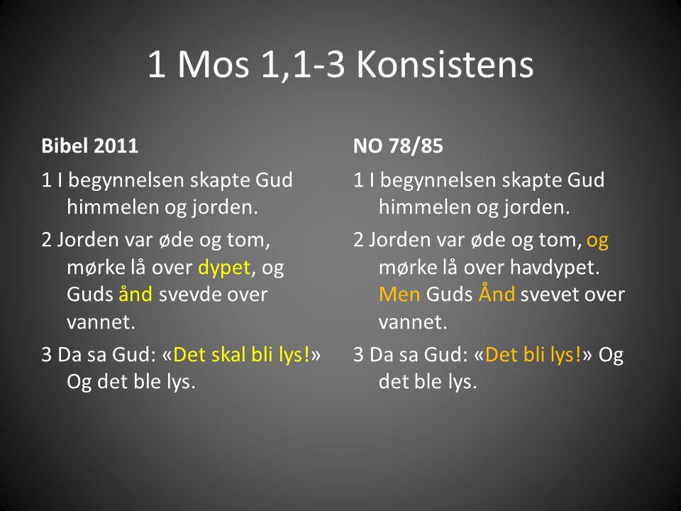 1 Mos 1,1-3 Konsistens Bibel 2011 NO 78/85