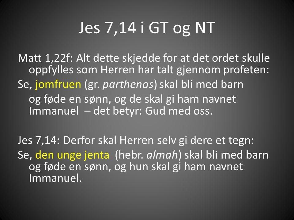 Jes 7,14 i GT og NT
