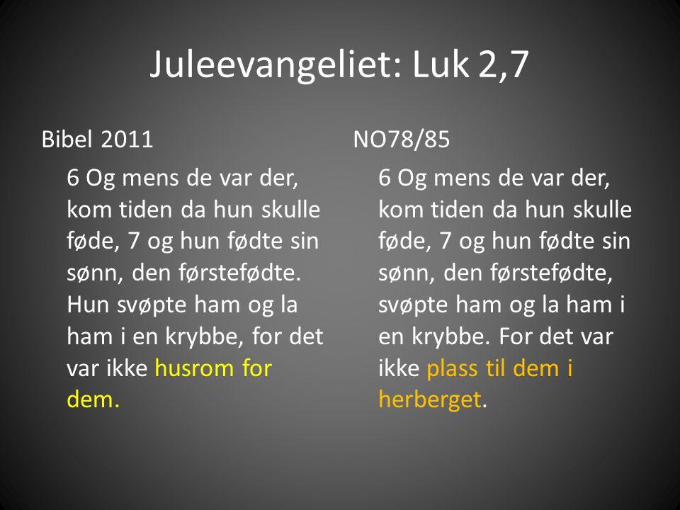 Juleevangeliet: Luk 2,7